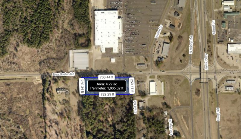 1.50 +/- Acre Corner Across the Street from Wal-Mart Super Center